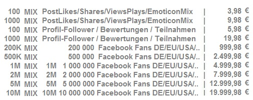 Echte Mix Facebook Post Likes kaufen